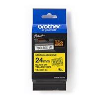 Brother originální páska do tiskárny štítků, Brother, TZE-S651, černý tisk/žlutý podklad, laminovaná