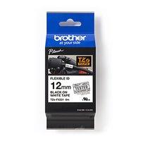 Brother originální páska do tiskárny štítků, Brother, TZE-FX231, černý tisk/bílý podklad, laminovaná