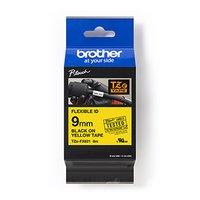 Brother originální páska do tiskárny štítků, Brother, TZEFX621, černý tisk/žlutý podklad, laminovaná