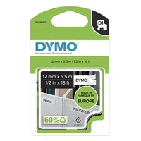 Dymo originální páska do tiskárny štítků, Dymo, 16959, S0718060, černý tisk/bílý podklad, 5.5m, 12mm