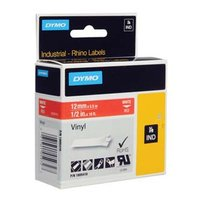 Dymo originální páska do tiskárny štítků, Dymo, 1805416, bílý tisk/červený podklad, 5.5m, 12mm, RHIN
