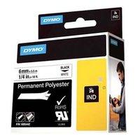 Dymo originální páska do tiskárny štítků, Dymo, 1805442, černý tisk/bílý podklad, 5.5m, 6mm, RHINO p
