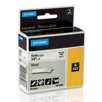 Dymo originální páska do tiskárny štítků, Dymo, 18443, S0718580, černý tisk/bílý podklad, 5.5m, 9mm,