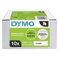 Dymo originální páska do tiskárny štítků, Dymo, 2093096, černý tisk/bílý podklad, 7m, 9mm, 10ks v ba