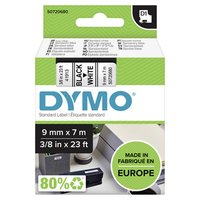 Dymo originální páska do tiskárny štítků, Dymo, 40913, S0720680, černý tisk/bílý podklad, 7m, 9mm, D