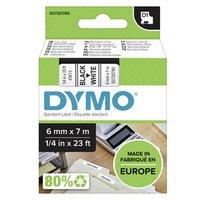 Dymo originální páska do tiskárny štítků, Dymo, 43613, S0720780, černý tisk/bílý podklad, 7m, 6mm, D