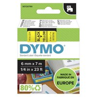 Dymo originální páska do tiskárny štítků, Dymo, 43618, S0720790, černý tisk/žlutý podklad, 7m, 6mm,