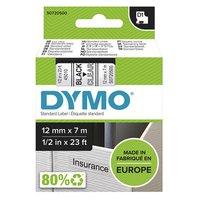Dymo originální páska do tiskárny štítků, Dymo, 45010, S0720500, černý tisk/průhledný podklad, 7m, 1