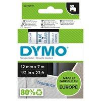 Dymo originální páska do tiskárny štítků, Dymo, 45011, S0720510, modrý tisk/průhledný podklad, 7m, 1