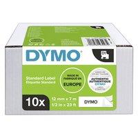 Dymo originální páska do tiskárny štítků, Dymo, 2093097, černý tisk/bílý podklad, 7m, 12mm, 10ks v b