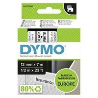 Dymo originální páska do tiskárny štítků, Dymo, 45013, S0720530, černý tisk/bílý podklad, 7m, 12mm,