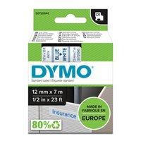 Dymo originální páska do tiskárny štítků, Dymo, 45014, S0720540, modrý tisk/bílý podklad, 7m, 12mm,