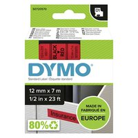 Dymo originální páska do tiskárny štítků, Dymo, 45017, S0720570, černý tisk/červený podklad, 7m, 12m