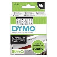 Dymo originální páska do tiskárny štítků, Dymo, 45800, S0720820, černý tisk/průhledný podklad, 7m, 1