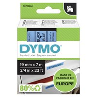 Dymo originální páska do tiskárny štítků, Dymo, 45806, S0720860, černý tisk/modrý podklad, 7m, 19mm,