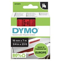 Dymo originální páska do tiskárny štítků, Dymo, 45807, S0720870, černý tisk/červený podklad, 7m, 19m
