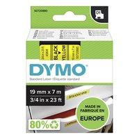 Dymo originální páska do tiskárny štítků, Dymo, 45808, S0720880, černý tisk/žlutý podklad, 7m, 19mm,
