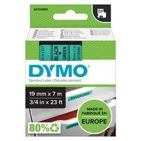 Dymo originální páska do tiskárny štítků, Dymo, 45809, S0720890, černý tisk/zelený podklad, 7m, 19mm