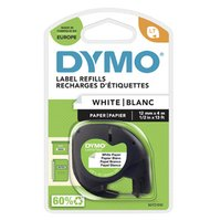 Dymo originální páska do tiskárny štítků, Dymo, 59421, S0721500, černý tisk/bílý podklad, 4m, 12mm,