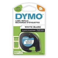 Dymo originální páska do tiskárny štítků, Dymo, 59422, S0721560, černý tisk/bílý podklad, 4m, 12mm,