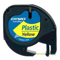 Dymo originální páska do tiskárny štítků, Dymo, 59423, S0721620, černý tisk/žlutý podklad, 4m, 12mm,