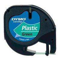 Dymo originální páska do tiskárny štítků, Dymo, 91204, S0721640, černý tisk/zelený podklad, 4m, 12mm