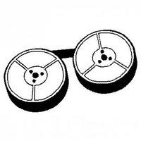 Páska pro psací stroj pro Olivetti Linea 88, GR. 1, červeno-černá, textilní, 13/10, N