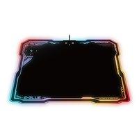 Podložka pod myš, EMP013, herní, černá, 36.5x26.5 cm, E-Blue, podsvícená, s bezdrátovým nabíjením