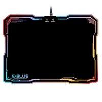 Podložka pod myš, RGB podsvícení, herní, černá, E-Blue