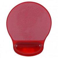 Podložka pod myš, ergonomická, gelová, červená, Logo, možnost vložit foto