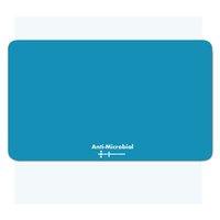 Podložka pod myš, Polyprolylen, modrá, 24x19cm, 0.4mm, Logo, antimikrobiální