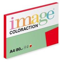 Xerografický papír Coloraction, Chile, A4, 80 g/m2, tmavě červený, 100 listů, vhodný pro inkoustový