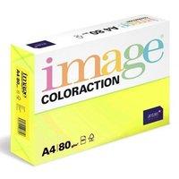 Xerografický papír Coloraction, Ibiza, A4, 80 g/m2, reflexní žlutý, 500 listů, vhodný pro inkoustový