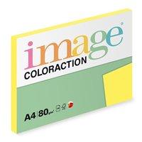 Xerografický papír Coloraction, Canary, A4, 80 g/m2, středně žlutý, 100 listů, vhodný pro inkoustový