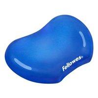 Podložka pod zápěstí CRYSTAL, ergonomická, gelová, modrá, Fellowes