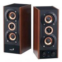 Genius reproduktory SP-HF 800A, 2.0, 20W, hnědo-černé, regulace hlasitosti, dřevěné