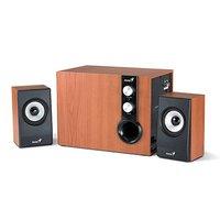 Genius reproduktory SW-HF 2.1 1205, 2.1, 36W, hnědo-černé, ovládání hlasitosti, dřevěné, Subwoofer