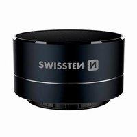SWISSTEN bluetooth reproduktor, i-METAL, 3W, černý, regulace hlasitosti, Bluetooth+USB konektorkovov