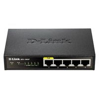 D-LINK switch DES-1005P PoE, 1000Mbps, PoE adapér, Gigabitový