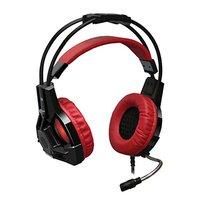 Defender Lester, herní sluchátka s mikrofonem, ovládání hlasitosti, černo-červená, 2.0, 50 mm měniče