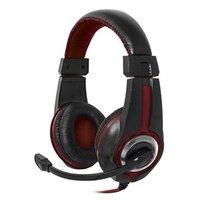 Defender Warhead G-185, herní sluchátka s mikrofonem, ovládání hlasitosti, černo-červená, 2x 3.5 mm