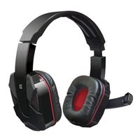 Defender Warhead G-260, sluchátka s mikrofonem, ovládání hlasitosti, černo-červená, herní sluchátka,