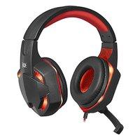 Defender Warhead G-370, herní sluchátka s mikrofonem, ovládání hlasitosti, černo-červená, 2.0, 2x 3.