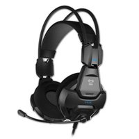E-Blue Cobra HS, herní sluchátka s mikrofonem, ovládání hlasitosti, černá, 2x 3.5 mm jack