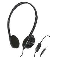 Genius HS-200C, sluchátka s mikrofonem, bez ovládání hlasitosti, černá, 2x 3.5 mm jack