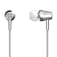 Genius HS-M360, sluchátka, bez ovládání hlasitosti, stříbrné, špuntová typ 3.5 mm jack