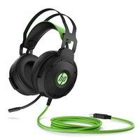 HP Pavilion 600 headset, sluchátka s mikrofonem, ovládání hlasitosti, černo-zelená, 7.1 surround (vi