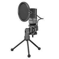 Marvo, streamovací mikrofon MIC-03, mikrofon, bez regulace hlasitosti, černý, s 270° otočným tripode