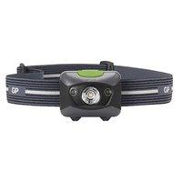 LED čelovka, 3xAAA, ABS plast, černá, 200lm, 120m, PH14