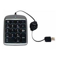 A4Tech TK-5, klávesnice CZ, numerická, vysouvací kabel typ drátová (USB), černo-stříbrná